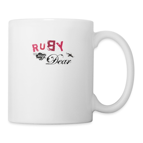 Ruby My Dear Logo 3 Yellow - Mug blanc
