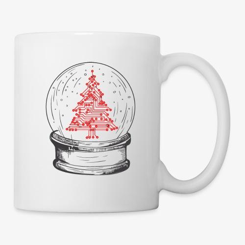 Crystal snow globe | Geeky christmas tree - Mug