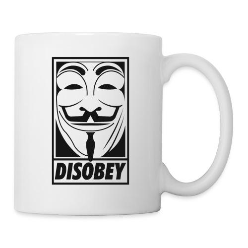 Anonymous disobey - Mug blanc