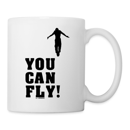 you can fly high BLACK - Taza