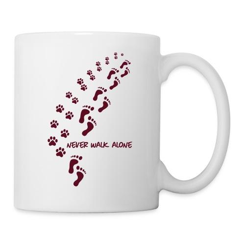 Vorschau: never walk alone dog - Tasse