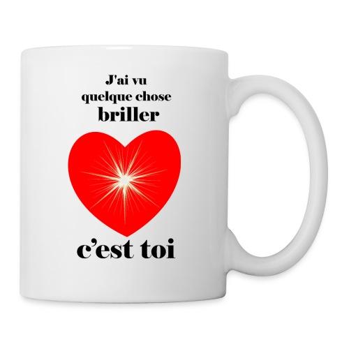 Coeur brillant ...amoureux ou inspiré FC - Mug blanc
