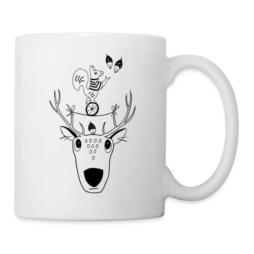 Rentier Eichhörnchen Acrobat Naturliebe Geschenk - Tasse