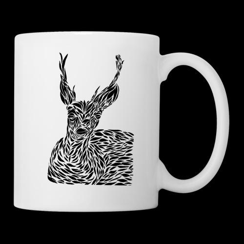 deer black and white - Muki
