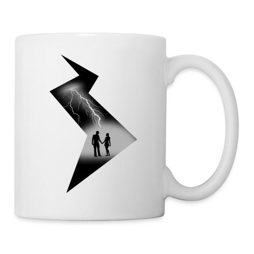 t shirt coup de foudre noir et blanc amour love - Mug blanc