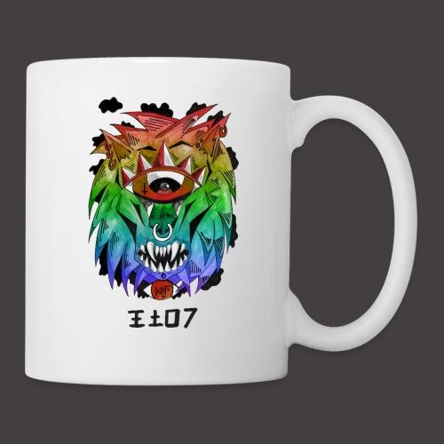 lion multi-color - Mug blanc