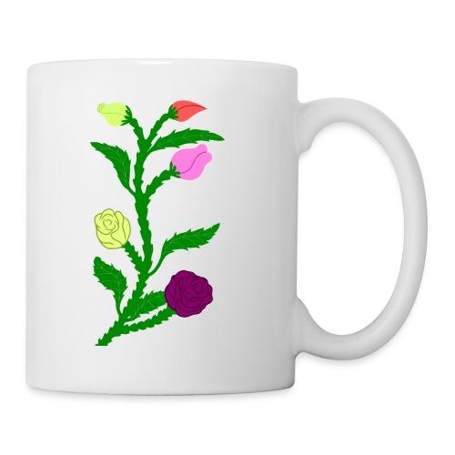 fleurs - Mug blanc