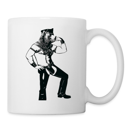 Grrr leather bear - Mug blanc