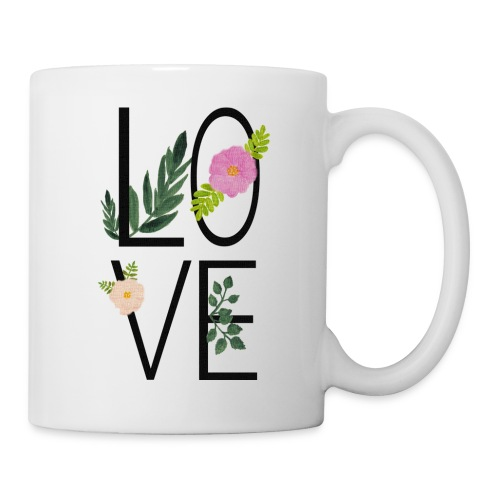 Love Sign with flowers - Mug