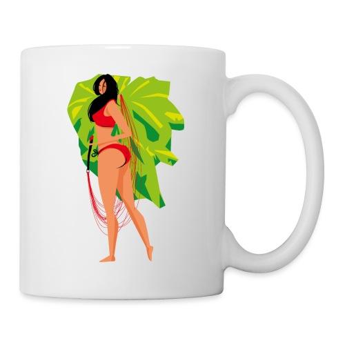 Frau mit Gleitschirm - Tasse