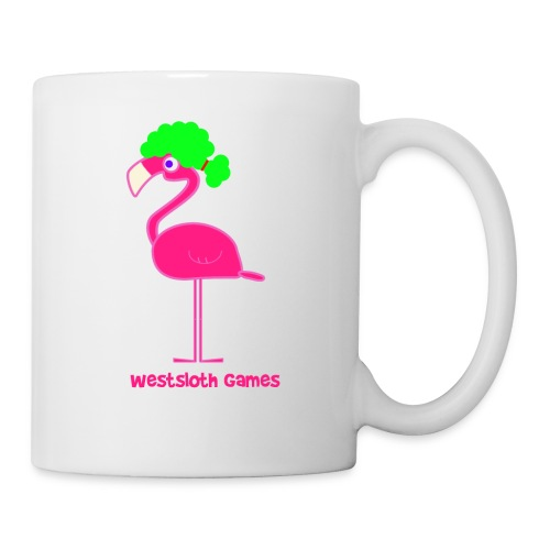 Green Afro Haired Flamingo - Muki