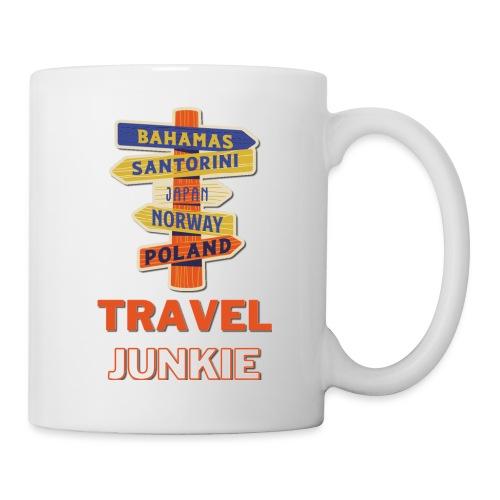 traveljunkie - i like to travel - Tasse