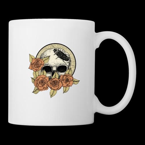 Rose et tête de mort - Mug blanc