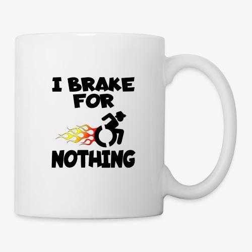 > Ik stop voor niemand in mijn rolstoel, roller - Mok