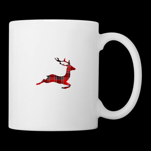 noël cerf écossais - Mug blanc