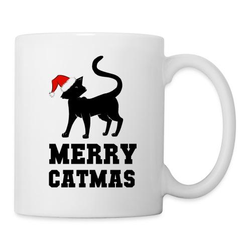Merry Catmas - Silhouette - Tasse