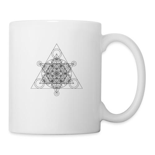 Sacred Geometry Seed, Flower. Tree Black - Mug