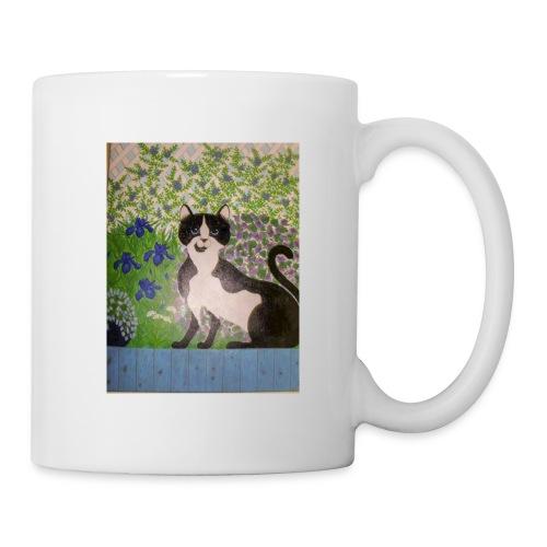 le chat du jardin - Mug blanc