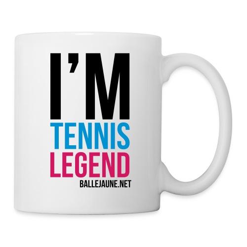 im-tennis-legend-block - Mug blanc