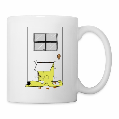 Stuck in a door dog - Mug