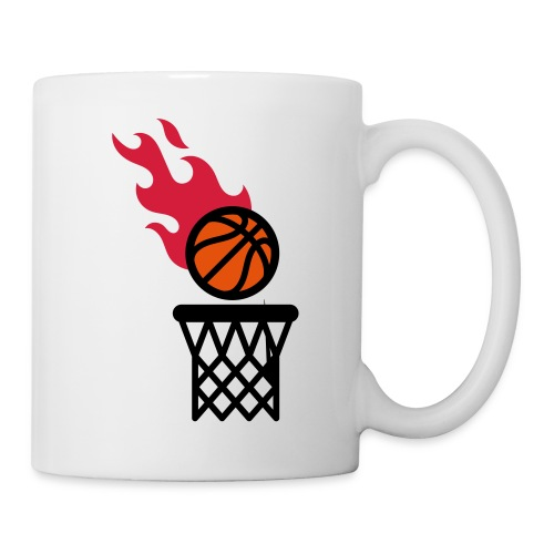 fire basketball - Mug