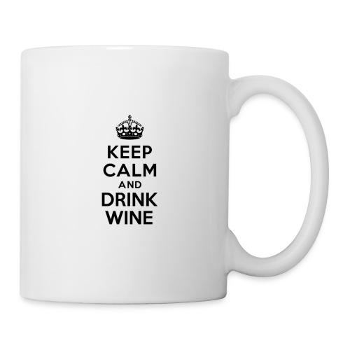 Keep Calm and Drink Wine - Mug blanc