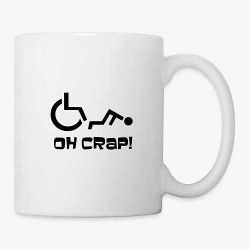 > Soms heb je pech en val je uit je rolstoel, crap - Mok