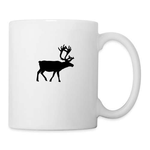 16593-illustrated-silhouette-of-a-reindeer-pv - Mugg