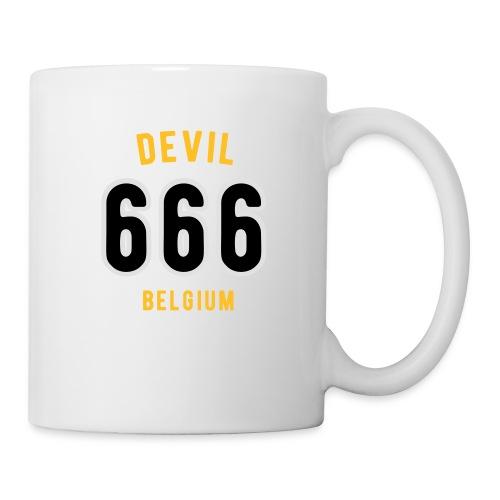 666 devil Belgium - Mug blanc