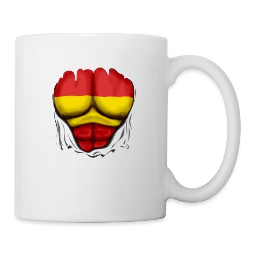 España Flag Ripped Muscles six pack chest t-shirt - Mug