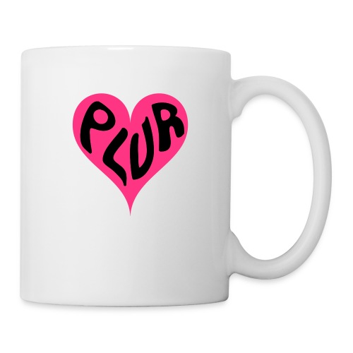 PLUR - Peace Love Unity and Respect love heart - Mug