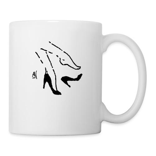 Woman's Legs & Dropped Shoe - Tasse