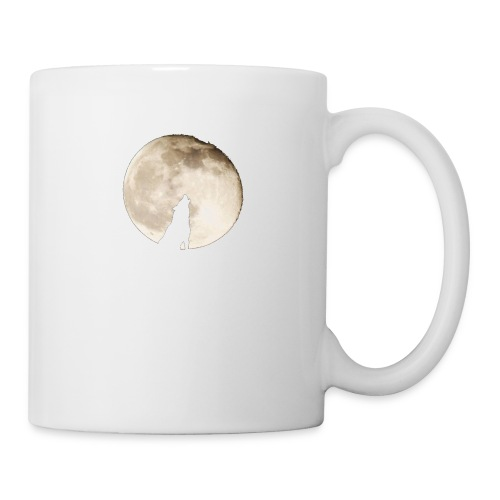 The wolf with the moon - Mug blanc