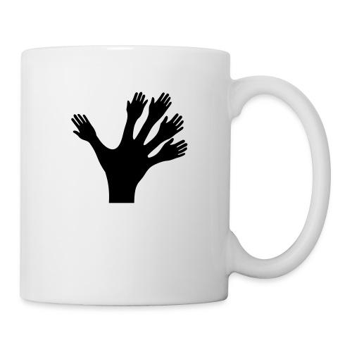 1000 Hände viel Arbeit wackeln machen tun schnell - Tasse