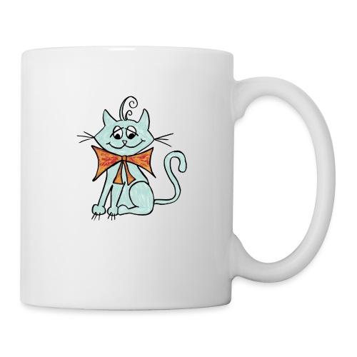 NIedliche blaue Katze - Tasse