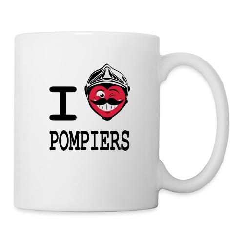 i_love_pompier_4 - Mug blanc