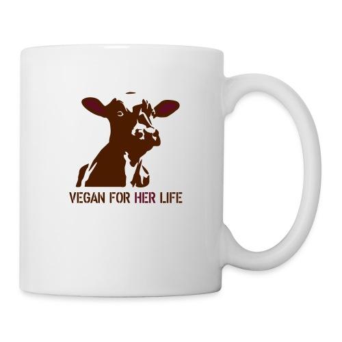 vegan for her life - Tasse