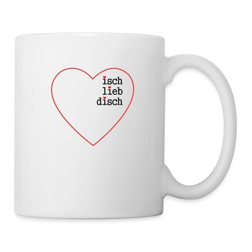 isch-lieb-disch-Herz - Tasse