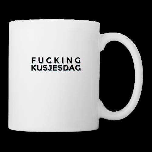 FUCKING KUSJESDAG (zwart) - Mok