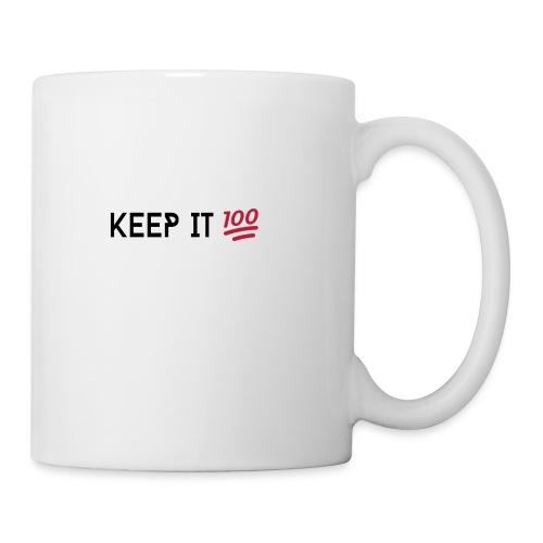 KEEP IT 100 ZWART png - Mok