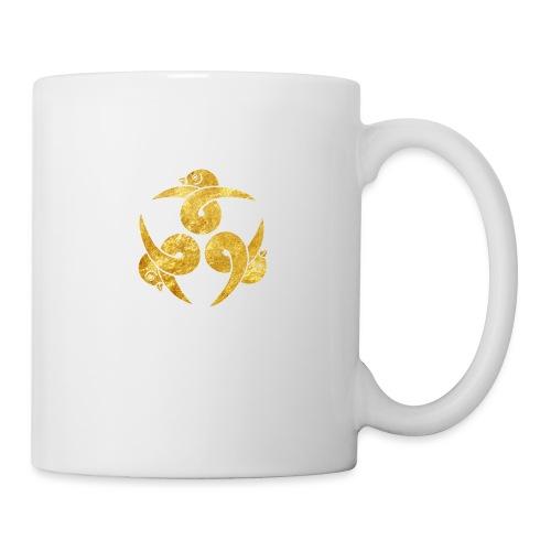 Three Geese Japanese Kamon in gold - Mug