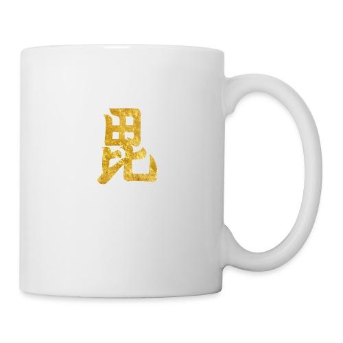 Uesugi Mon Japanese samurai clan in gold - Mug