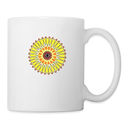 Yellow Sunflower Mandala - Mug