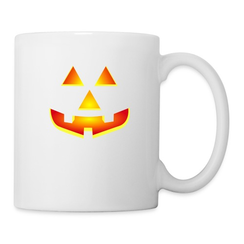 Smiling pumpkin - T Shirt, Halloween, Scary Face - Mug