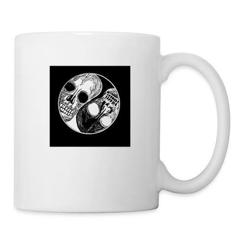 Yng yang skull - Mug blanc