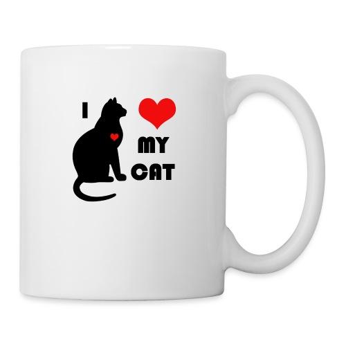 I love my cat - Mug blanc