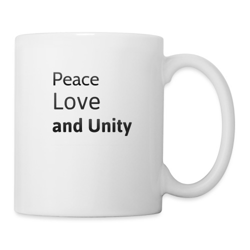 Peace love and unity - Mug
