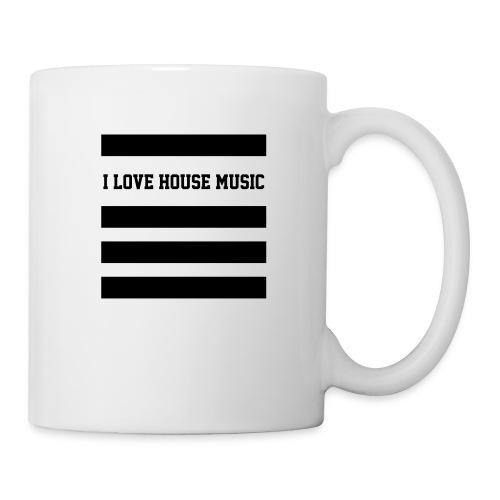 I LOVE HOUSE MUSIC STRIPES - Tasse