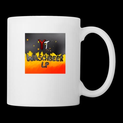 Waschbeer Design 2# Mit Flammen - Tasse