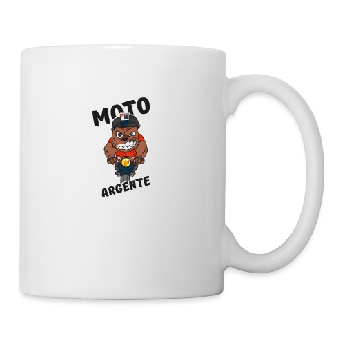 moto argente - Mug blanc